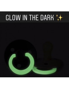 Dwupak smoczki uspokajające M BLUSH i VANILLA glow in dark, Bibs