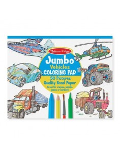Kolorowanka Jumbo Pojazdy +3 lata, Melissa and Doug