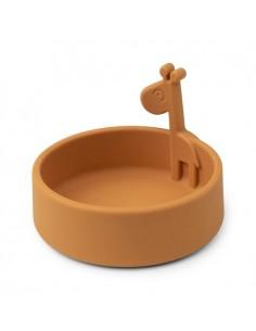 Miseczka Silikonowa Peekaboo Mustard, Done By Deer