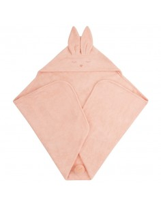 Ręcznik Bambusowy Króliczek Morela 80x80cm, Samiboo