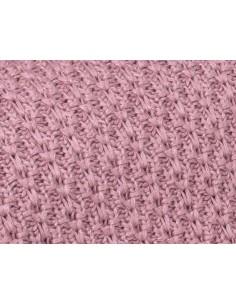 Kocyk bambusowy Chain 80x100 Vintage Pink, My Memi