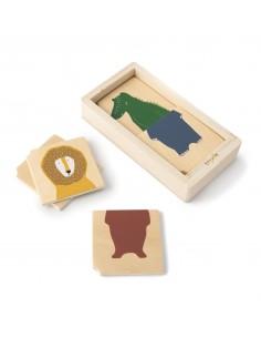 Drewniane puzzle w pudełku Animals +2 lata, trixie
