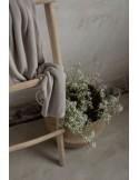 Lekki kocyk bambusowy z jonami srebra 100x100 light beige, My Memi