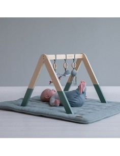 Pałąk interaktywny BabyGym Ocean Mięta +0, Little Dutch