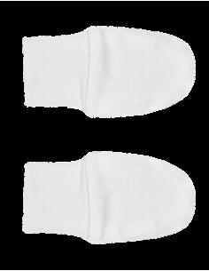 Rękawiczki niedrapki bawełna organiczna białe, Nanaf Organic