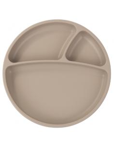 Talerzyk silikonowy z przyssawką bubble beige, Minikoioi