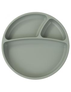 Talerzyk silikonowy z przyssawką river green, Minikoioi