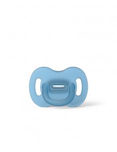 Smoczek 100% silikonowy fizjologiczny SX PRO 0-6 m-cy niebieski, Suavinex