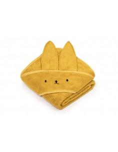 Bambusowy ręcznik mustard 85x85 cm, My Memi