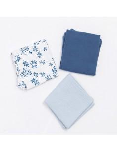 Zestaw trzech pieluszek muślinowych - Blue Meadow, Bim Bla