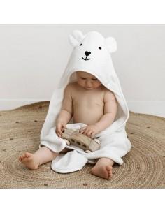 Ręcznik bambusowy z kapturkiem 85x85cm Biały, Bolo
