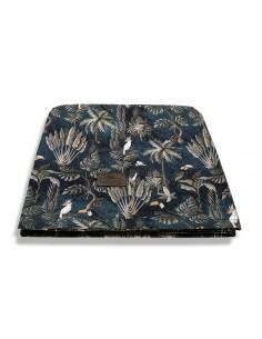 Otulacz/ chusta bambusowa Jungle Dark Blue 120x120 cm, Sleepee