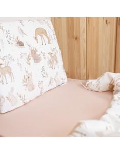 Prześcieradło Soft and Natural Pudrowy Róż 60x120cm, Colorstories