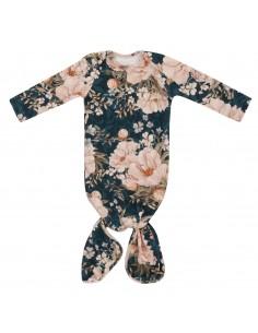 Bambusowa piżamka z opaską Peonie Granat, Samiboo