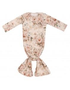 Bambusowa piżamka z opaską Peonie Krem, Samiboo