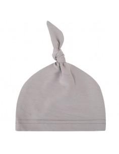 Bambusowa czapeczka dla niemowlaka szara 0-3 miesiące, Samiboo