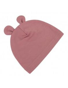 Bambusowa czapeczka dla niemowlaka jagoda z uszami 0-3 miesięce, Samiboo