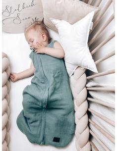 Dwustronny Śpiworek Muślinowy Ocean Green (4-24 miesiące), Sleepee