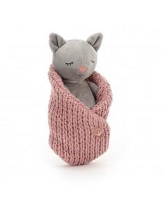Śpiący kotek 18cm, Jellycat