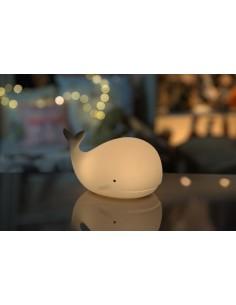 Lampka silikonowa Wieloryb z PILOTEM, Rabbit and Friends