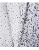 Muślinowa Chusta - Botanic White 120x120cm