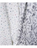 Muślinowa Chusta - Dots White 120x120cm