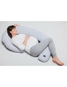 Poduszka ciążowa szaro - biała