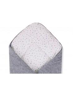 Rożek Niemowlęcy 3 w 1 z pieluszką muślinową Dots White