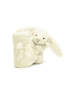 Kocyk przytulanka z króliczkiem kremowy