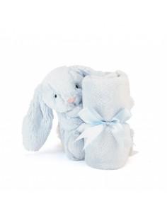 Kocyk przytulanka z króliczkiem błękitny