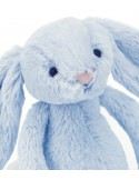 Króliczek błękitny 18cm grzechotka