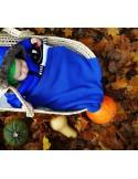 Kocyk bambusowy tkany ROYAL NAVY BLUE 80x100