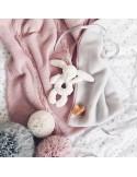 Kocyk ocieplany z polarem Zamglony Róż
