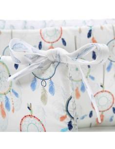 Uniwersalny ochraniacz do łóżeczka Dreamcatcher White Plume