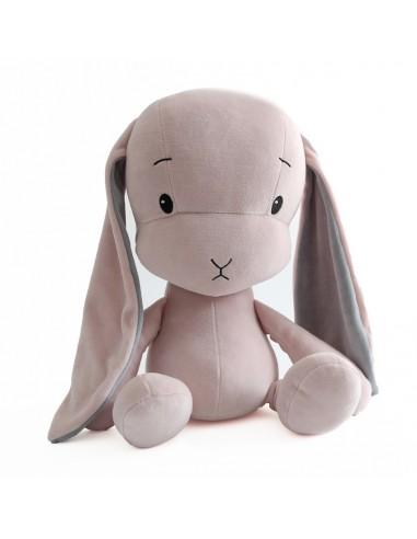 Królik Effik M RÓŻOWY - szare uszy, 35 cm