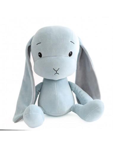 Królik Effik M BŁĘKITNY - szare uszy, 35 cm