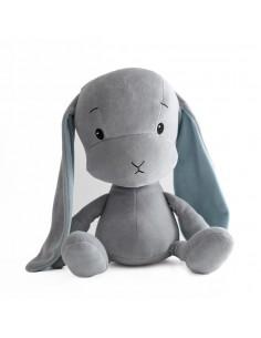 Królik Effik L SZARY - niebieskie uszy, 50 cm