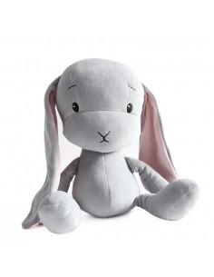 Królik Effik L SZARY - różowe uszy, 50 cm