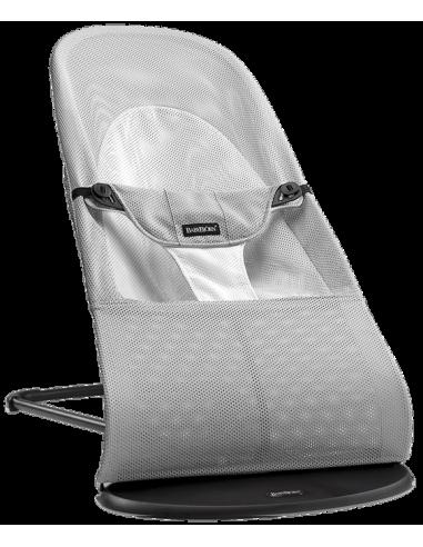 Leżaczek Balance Soft Mesh - Srebrny/ Biały