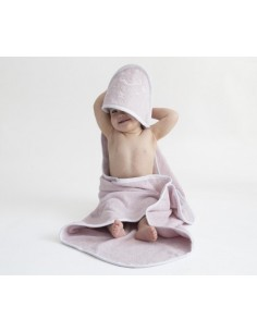 Ręcznik z kapturkiem Owieczka 70x70cm - różowy