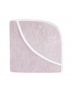 Ręcznik z kapturkiem Owieczka 95x95cm - różowy