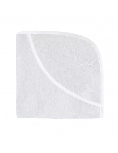 Ręcznik z kapturkiem Owieczka 70x70cm - biały