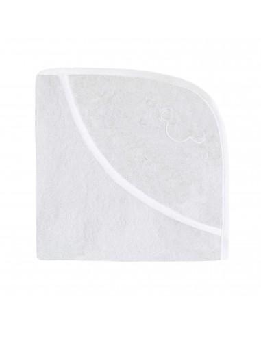 Ręcznik z kapturkiem Owieczka 95x95cm - biały