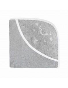 Ręcznik z kapturkiem Owieczka 70x70cm - szary