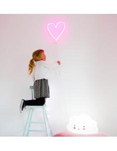 Neon Serce różowe