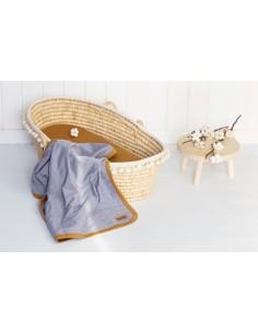 Kocyk bawełniany cienki Organic POPIEL 90x90cm